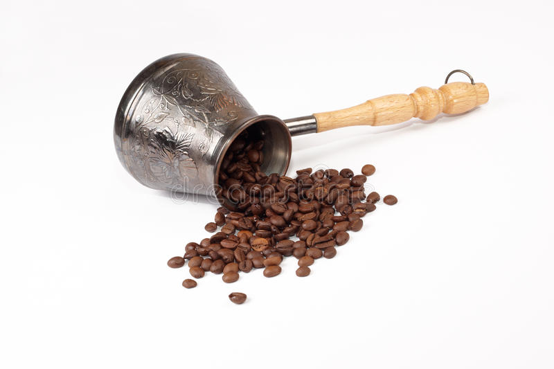 Download Coffee Pot Ground Coffee Grains Stock Photo - Image: 14976318