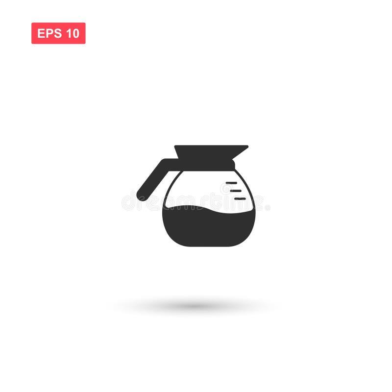 Coffee pot icon vector design isolated 5 stock illustration