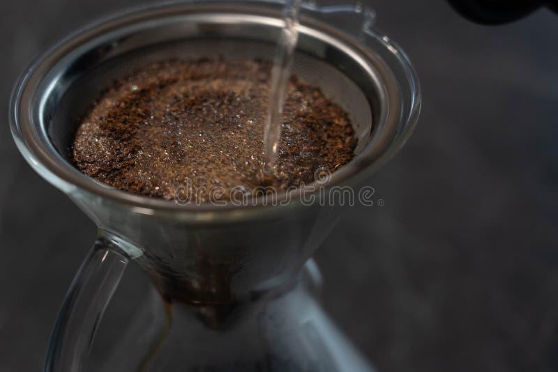 Coffee pour over maker glass stock photos