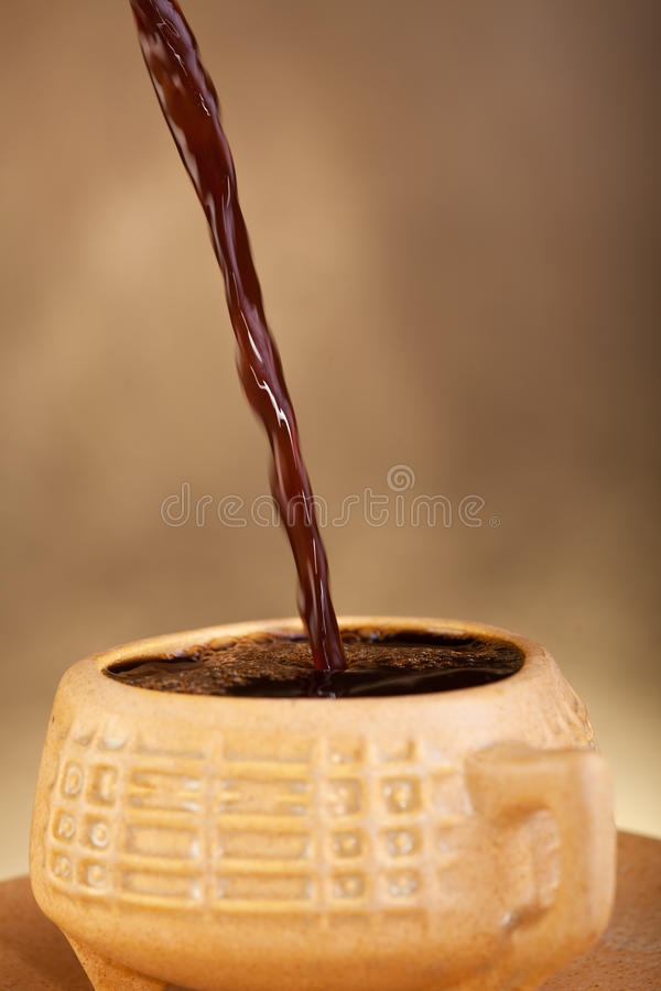 Download Coffee pouring into cup stock image. Image of beverage - 25739523