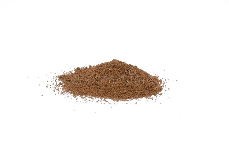 Coffee powder isolated royalty free stock photos