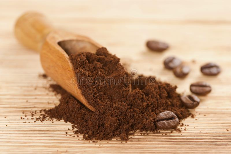 Coffee powder royalty free stock images