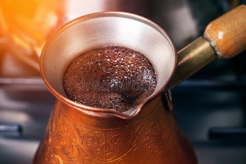 Coffee preparation royalty free stock image