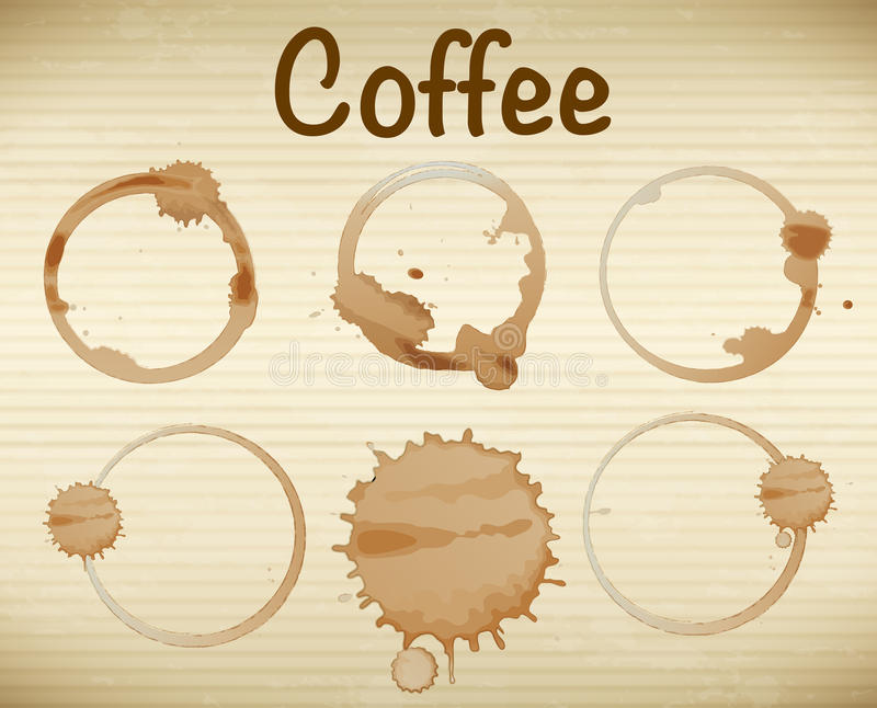 coffee rigns royaltyfri illustrationer