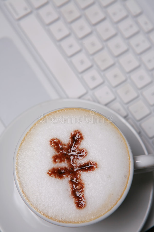 Download Coffee With RMB Sign On Keyboard Stock Image - Image: 6369437