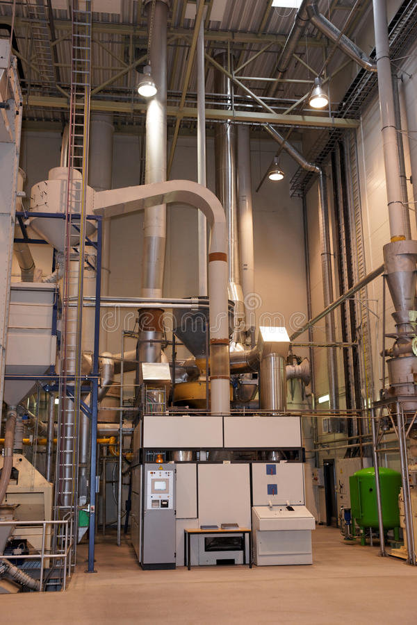Download Coffee roasting plant stock image. Image of industry - 25127969