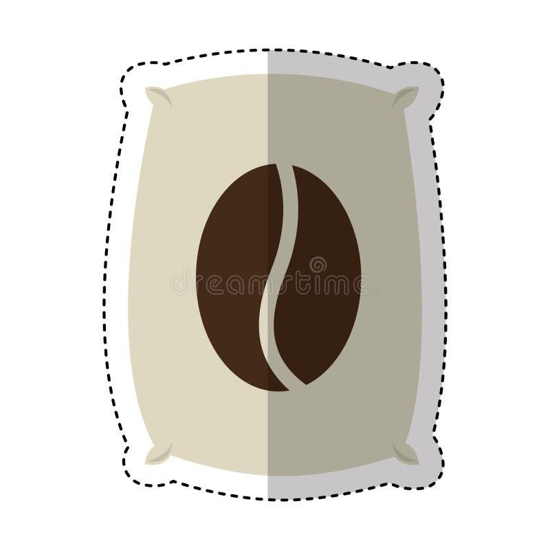 Coffee sack isolated icon. Vector illustration design royalty free illustration