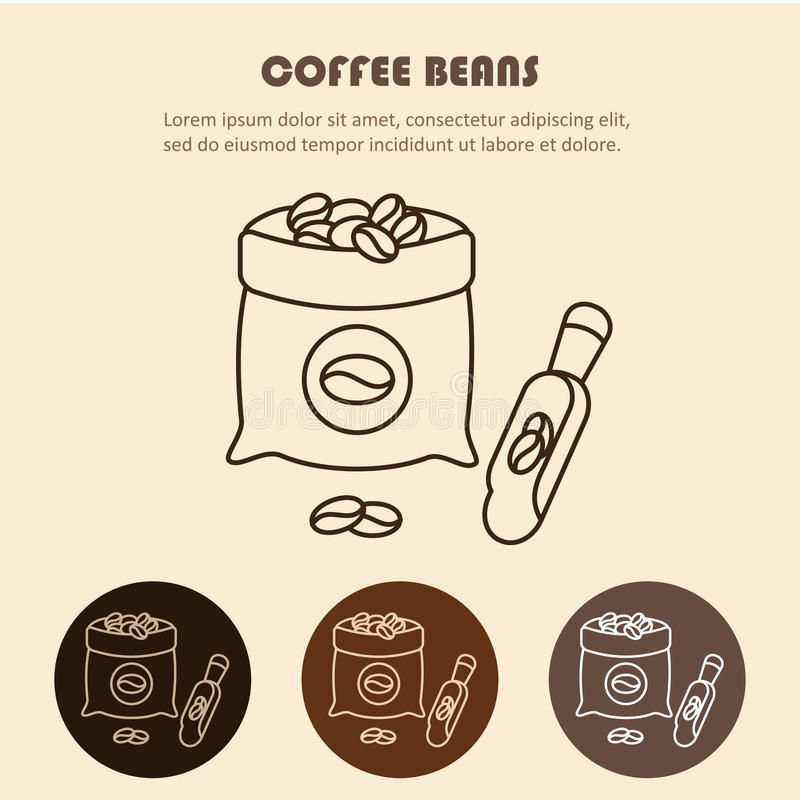 Coffee sack isolated icon vector illustration design. Coffee bag line icon stock illustration