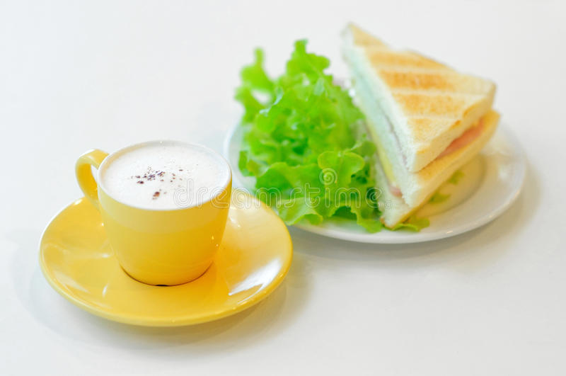 Coffee And Sandwich Royalty Free Stock Photo - Image: 34908915