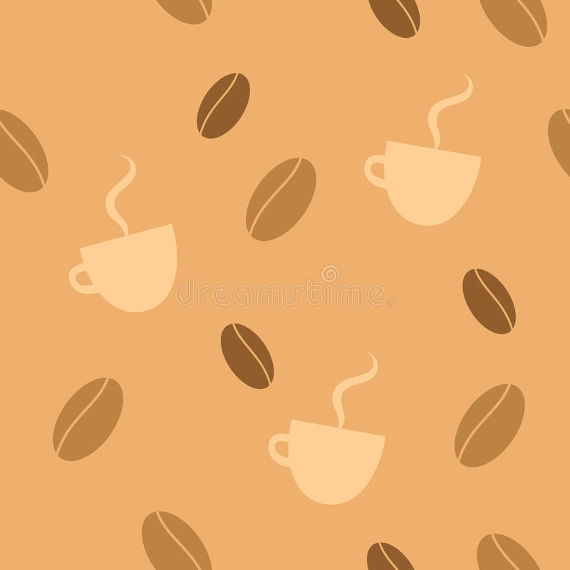 Download Coffee seamless background stock vector. Image of pattern - 11136266
