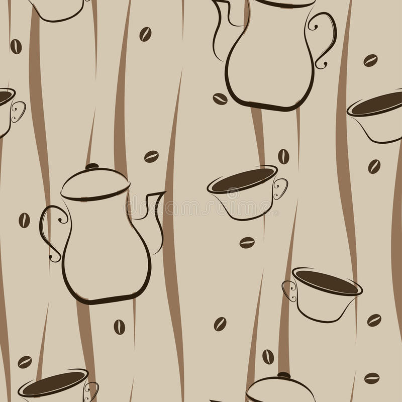 Coffee Seamless Background Royalty Free Stock Image