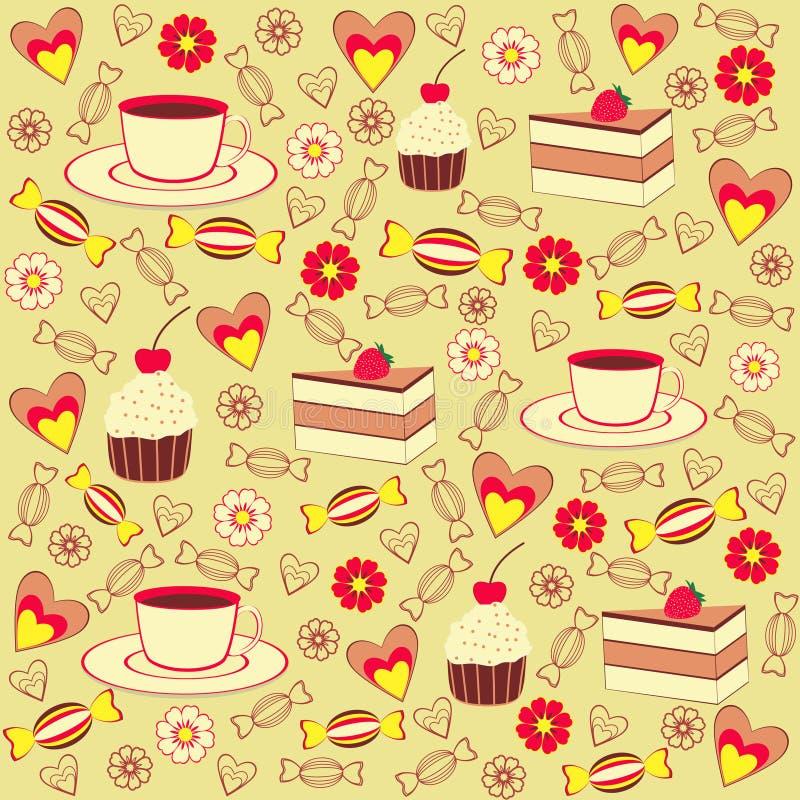 Coffee seamless pattern stock illustration