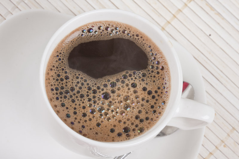 Download Coffee served stock photo. Image of foam, beverage, coffe - 8198212