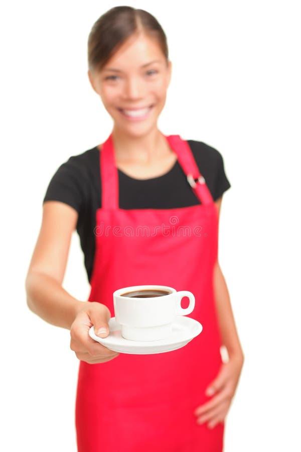 Coffee serving waitress