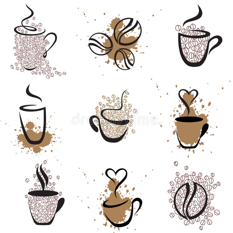Download Coffee set 1 stock vector. Image of coffee, fume, brand - 7337354