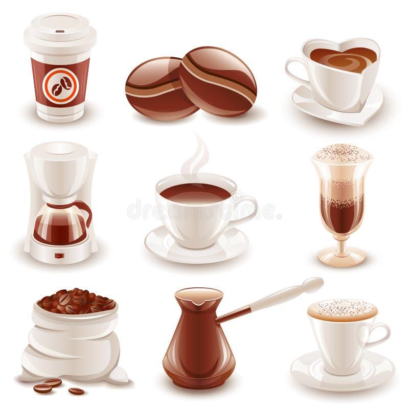 Coffee set royalty free illustration