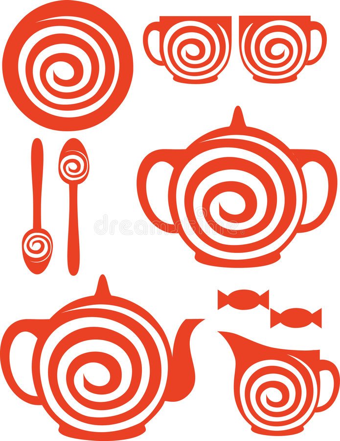 Download Coffee set stock vector. Image of object, morning, cofee - 8535282