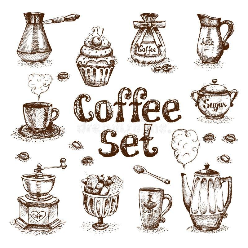 Coffee set stock illustration