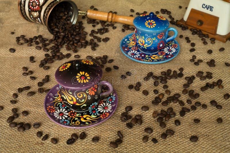 Coffee setup stock photo