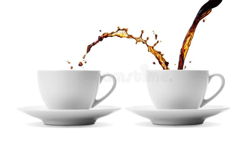 Coffee sharing royalty free stock photos