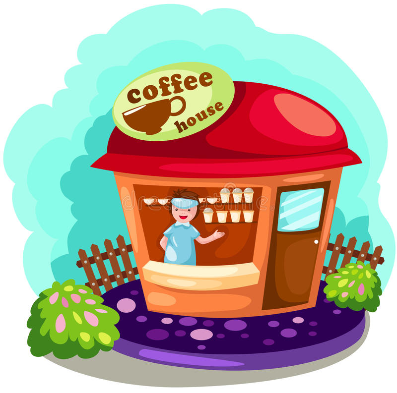 Download Coffee shop stock vector. Image of modern, building, cafe - 16756341