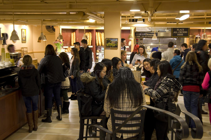 Coffee shop customers royalty free stock photos