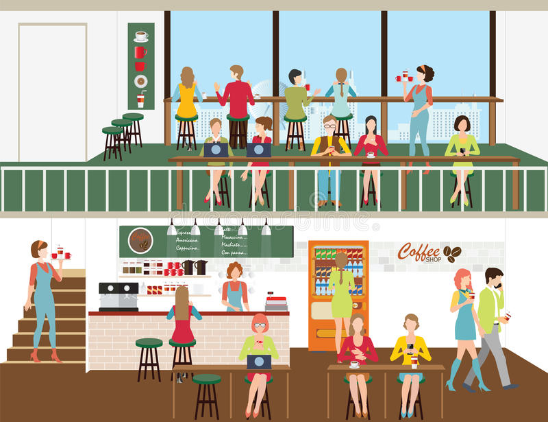 Coffee shop design. vector illustration