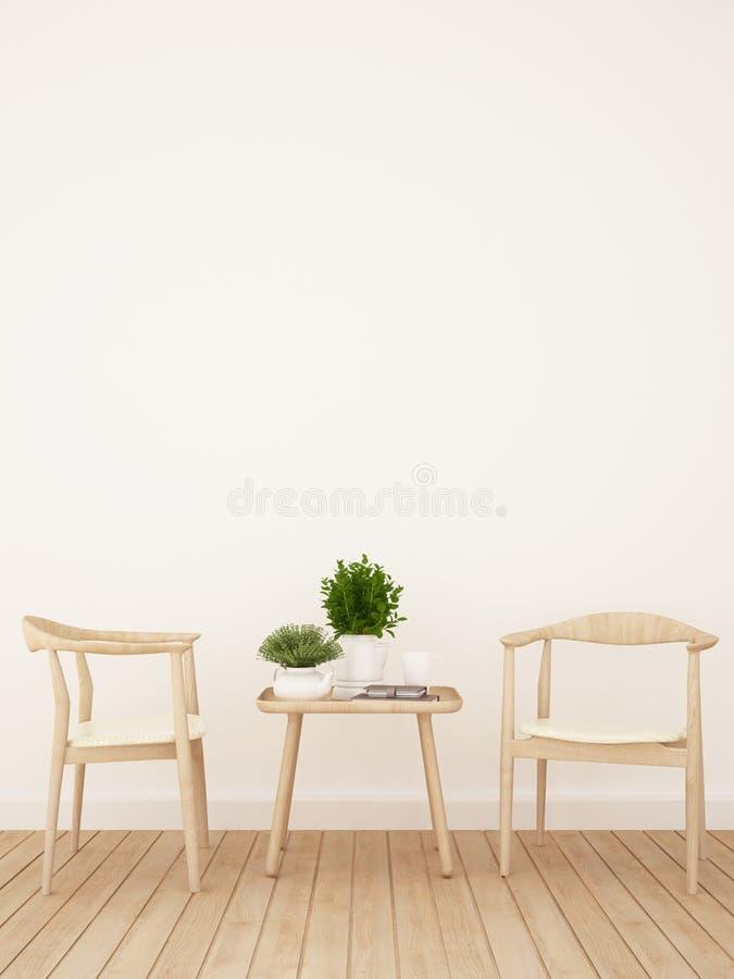 Coffee shop eller äta middagområde - tolkning 3D arkivbild