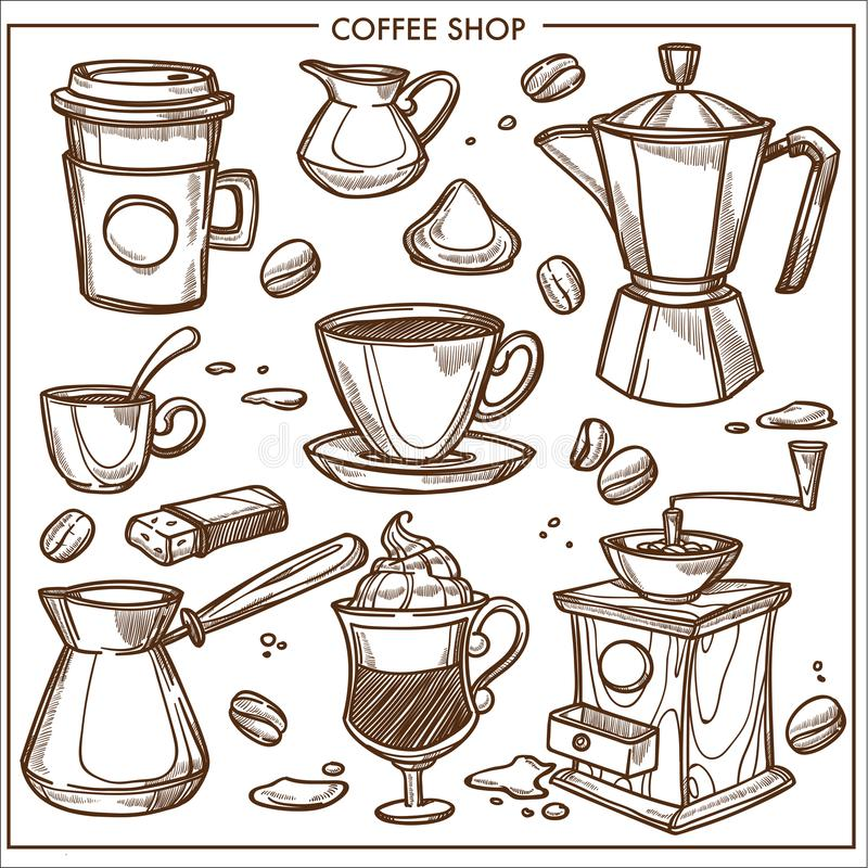 Coffee Maker Stock Illustrations 9045 Coffee Maker Stock