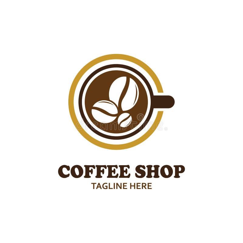 Coffee shop icon. Logo creative vector  illustration stock illustration
