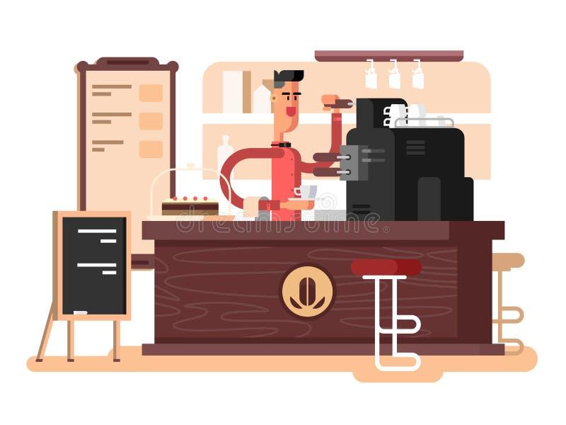 Coffee shop interior royalty free illustration
