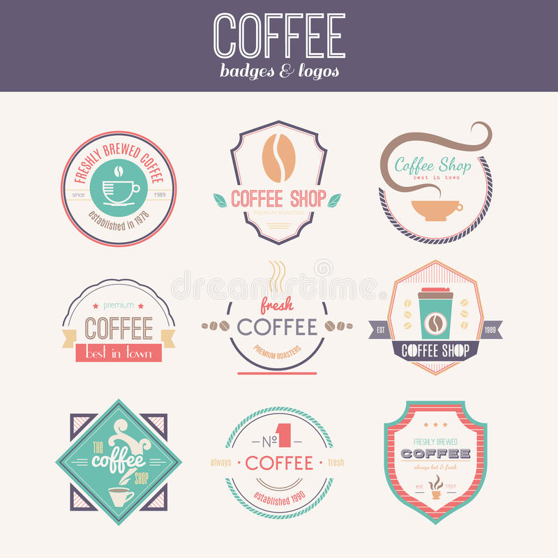 Coffee Shop Logo Collection stock illustration
