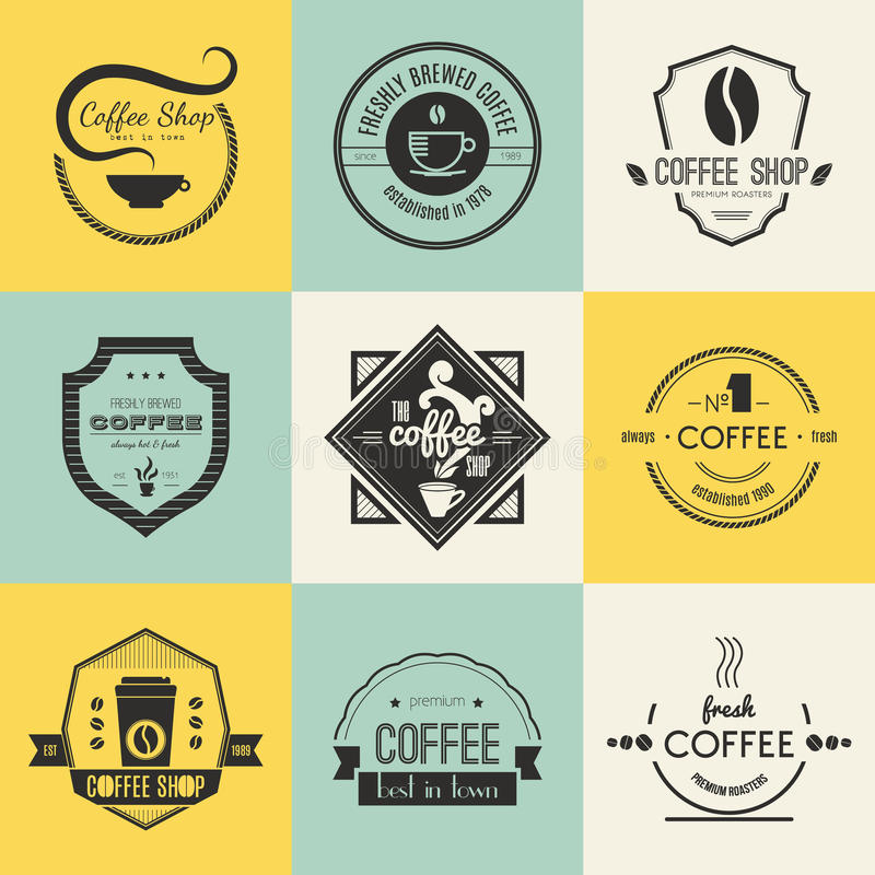 Coffee Shop Logo Collection vector illustration