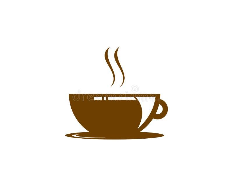 Coffee Shop Logo Icon Template Design Vector Illustration royalty free illustration