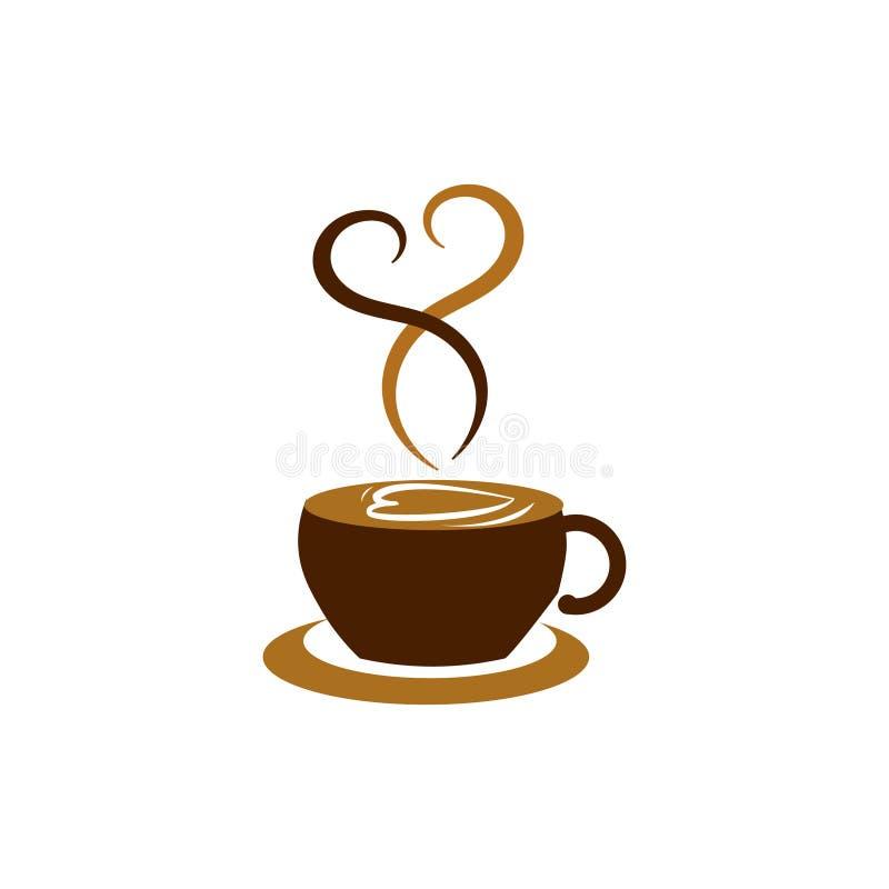 Coffee shop logo vector illustration. Espresso coffee icon symbol. vector illustration