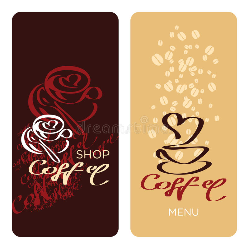 Coffee shop menu. Design templates. Coffee card. I love coffee stock illustration
