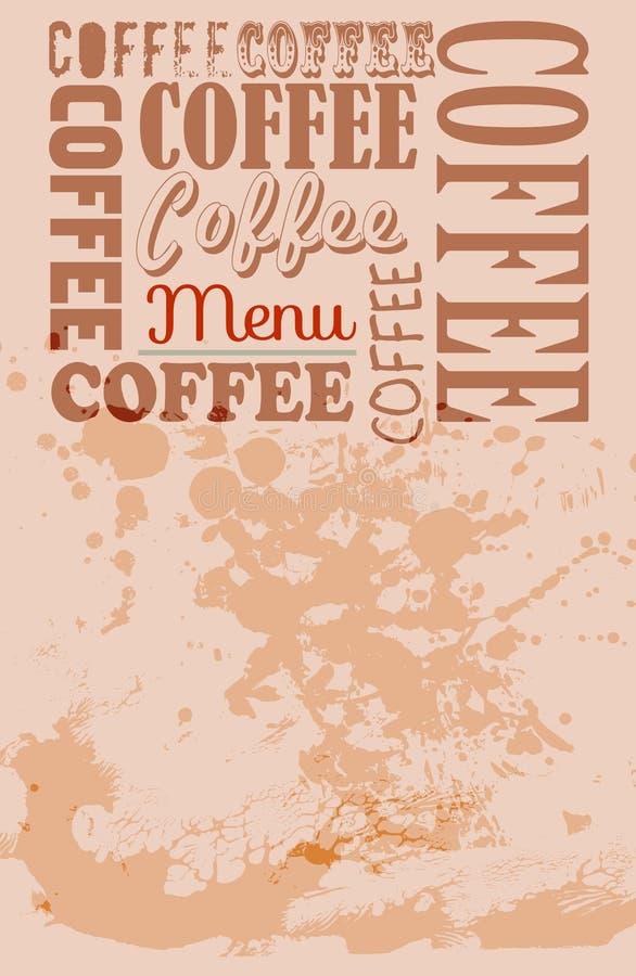 Coffee shop menu template, royalty free illustration