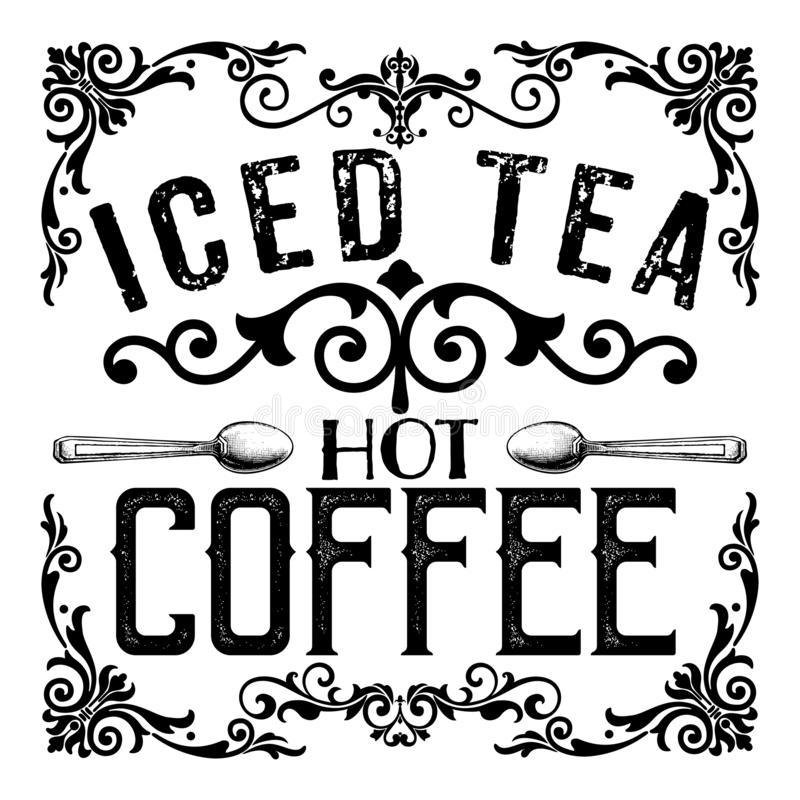 Coffee Shop Pastry Cafe Tea House Typography Sketch. Collection Sweets and Treats perfect for Window Clings and Posters, Coasters, Product Design Packaging vector illustration