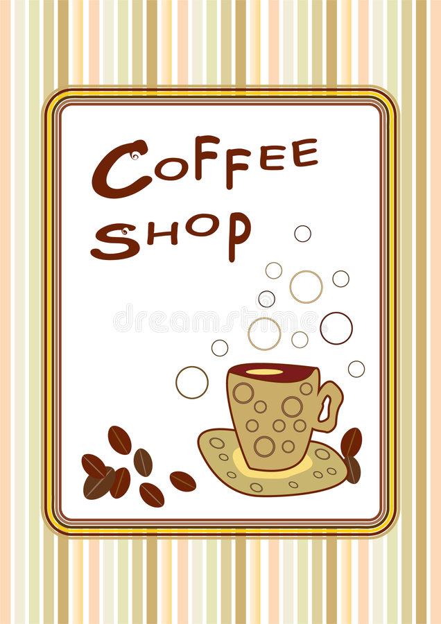 Download Coffee shop poster stock vector. Image of circles, around - 9255877