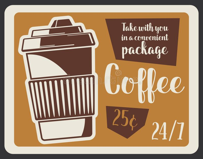 Coffee takeaway cup of hot drink royalty free illustration