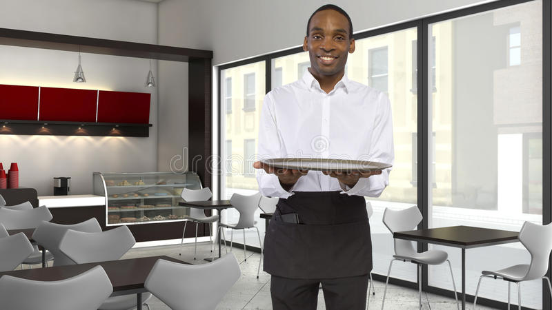 Download Coffee Shop Server stock image. Image of apron, catering - 38277997