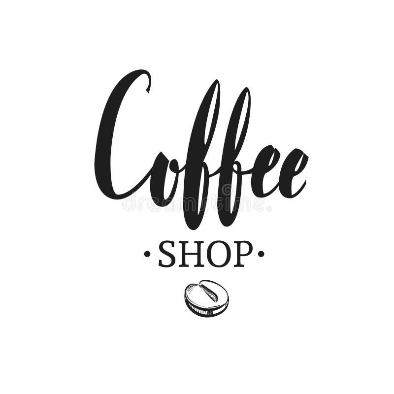 Coffee shopemblem 2 stock illustrationer