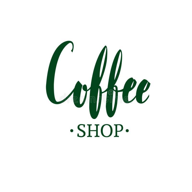 Coffee shopemblem royaltyfri illustrationer