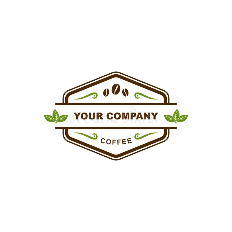 Coffee shopemblemlogo stock illustrationer