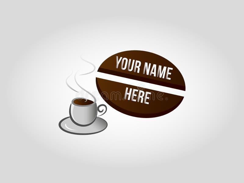Coffee shoplogo stock illustrationer