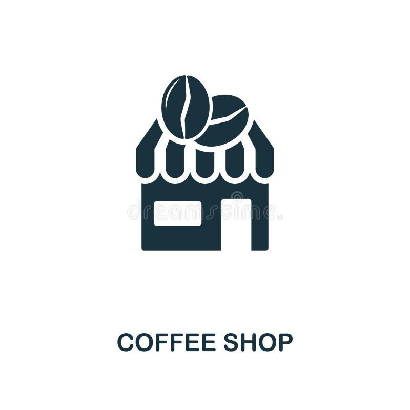 Coffee shopsymbol Den högvärdiga stildesignen från coffe shoppar symbolssamlingen UI och UX Perfekt coffee shopsymbol för PIXEL F royaltyfri illustrationer