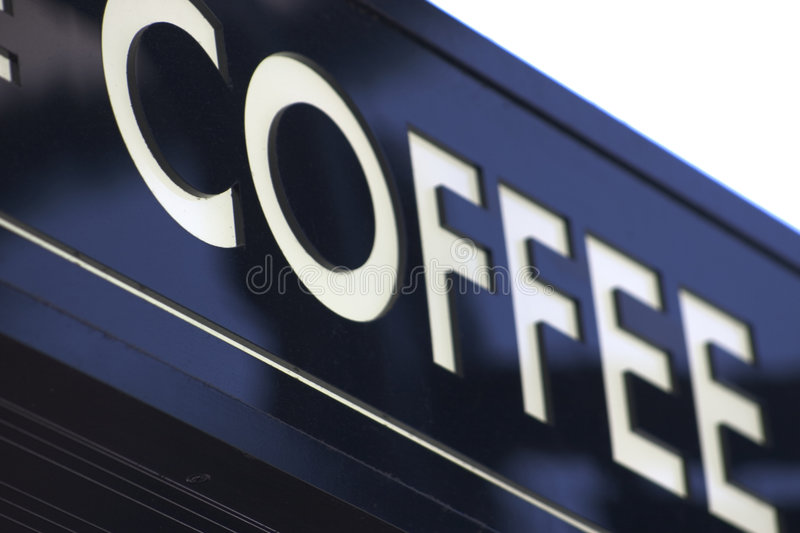 Coffee Sign royalty free stock photo
