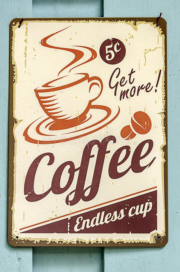 Coffee sign stock images