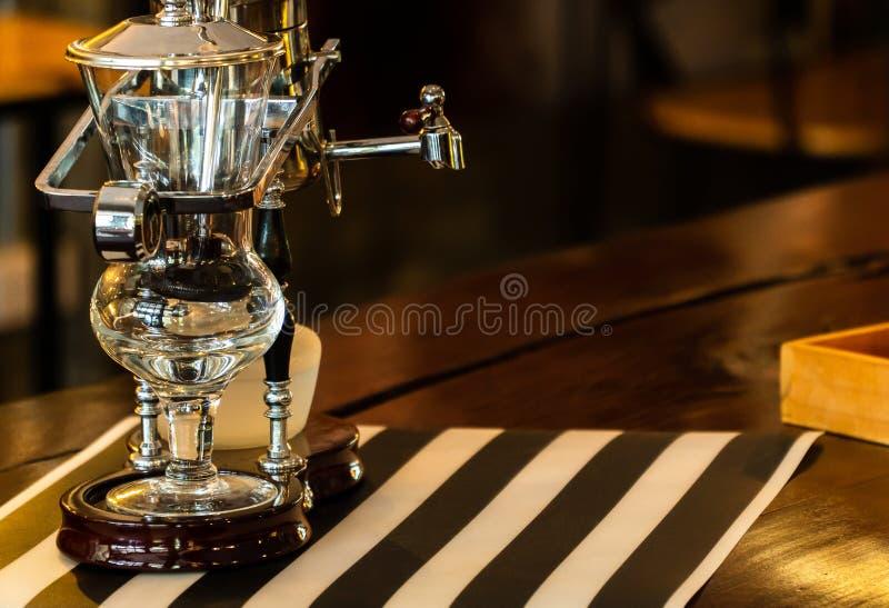 Coffee siphon. Alcohol background bean beverage black boil bottom bowl brew brown burner cafe maker concept cup dark decoration drink equipment espresso filter stock photos