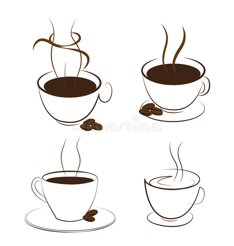 Coffee and smoke. Look like shape women on white background vector illustration